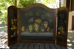 Tri-panel Fireplace Screen